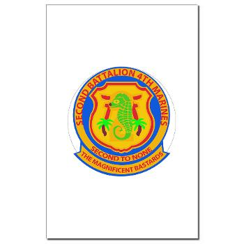 2B4M - M01 - 02 - 2nd Battalion 4th Marines - Mini Poster Print
