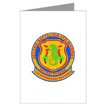2B4M - M01 - 02 - 2nd Battalion 4th Marines - Greeting Cards (Pk of 20)