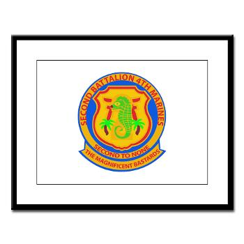 2B4M - M01 - 02 - 2nd Battalion 4th Marines - Large Framed Print