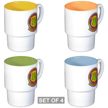 2B4M - M01 - 03 - 2nd Battalion 4th Marines - Stackable Mug Set (4 mugs)