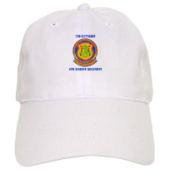 2B4M - A01 - 01 - 2nd Battalion 4th Marines with Text - Cap