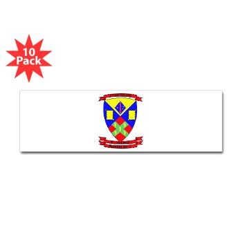 2B5M - M01 - 01 - 2nd Battalion 5th Marines - Sticker (Bumper 10 pk)