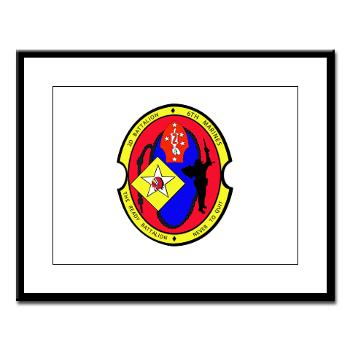 2B6M - M01 - 02 - 2nd Battalion - 6th Marines Large Framed Print