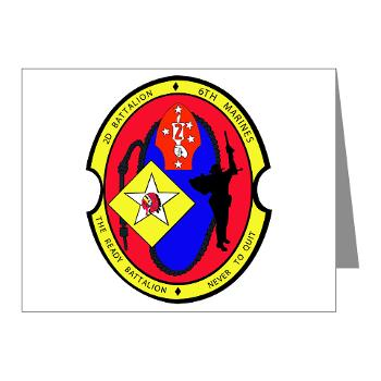 2B6M - M01 - 02 - 2nd Battalion - 6th Marines Note Cards (Pk of 20)