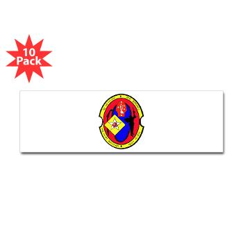 2B6M - M01 - 01 - 2nd Battalion - 6th Marines Sticker (Bumper 10 pk)