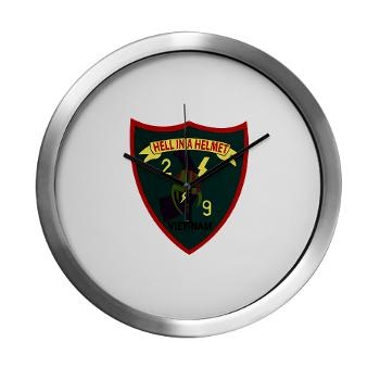 2B9M - M01 - 03 - 2nd Battalion - 9th Marines - Modern Wall Clock