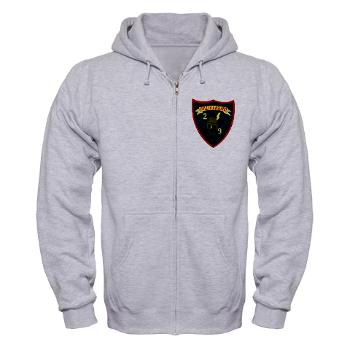 2B9M - A01 - 03 - 2nd Battalion - 9th Marines - Zip Hoodie