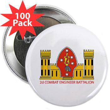 "2CEB - M01 - 01 - 2nd Combat Engineer Battalion - 2.25"" Button (100 pack)"