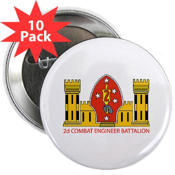 "2CEB - M01 - 01 - 2nd Combat Engineer Battalion - 2.25"" Button (10 pack)"