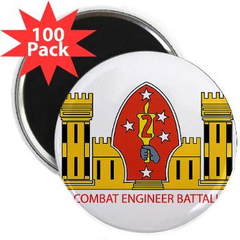 "2CEB - M01 - 01 - 2nd Combat Engineer Battalion - 2.25"" Magnet (100 pack)"