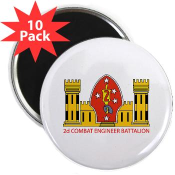 "2CEB - M01 - 01 - 2nd Combat Engineer Battalion - 2.25"" Magnet (10 pack)"