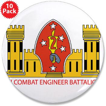 "2CEB - M01 - 01 - 2nd Combat Engineer Battalion - 3.5"" Button (10 pack)"
