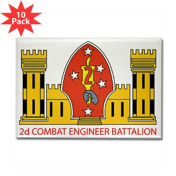 2CEB - M01 - 01 - 2nd Combat Engineer Battalion - Rectangle Magnet (10 pack)