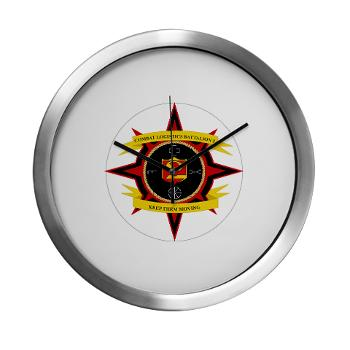 2CLB - M01 - 03 - 2nd Combat Logistics Battalion - Modern Wall Clock