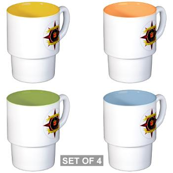 2CLB - M01 - 03 - 2nd Combat Logistics Battalion - Stackable Mug Set (4 mugs)