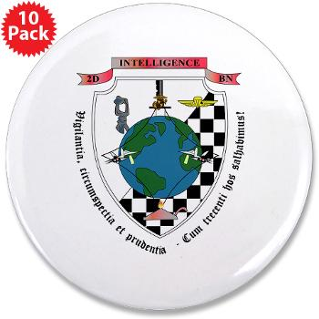 "2IB - M01 - 01 - 2nd Intelligence Battalion - 3.5"" Button (10 pack)"