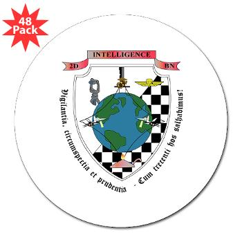 "2IB - M01 - 01 - 2nd Intelligence Battalion - 3"" Lapel Sticker (48 pk)"