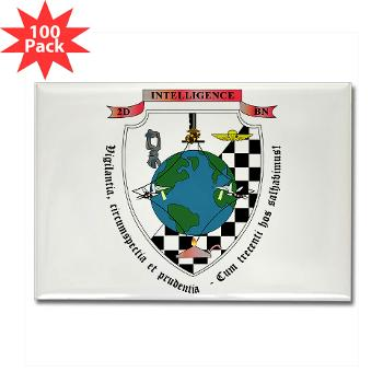 2IB - M01 - 01 - 2nd Intelligence Battalion - Rectangle Magnet (100 pack)
