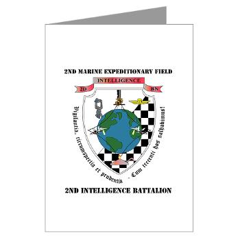 2IB - M01 - 02 - 2nd Intelligence Battalion with Text - Greeting Cards (Pk of 10)