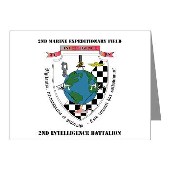 2IB - M01 - 02 - 2nd Intelligence Battalion with Text - Note Cards (Pk of 20)