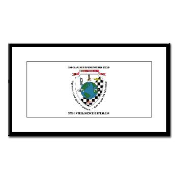 2IB - M01 - 02 - 2nd Intelligence Battalion with Text - Small Framed Print