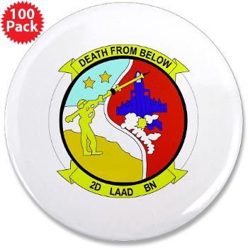 "2LAADB - M01 - 01 - 2nd Low Altitude Air Defense Battalion (2nd LAAD) - 3.5"" Button (100 pack)"