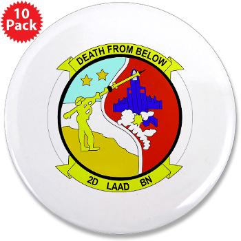 "2LAADB - M01 - 01 - 2nd Low Altitude Air Defense Battalion (2nd LAAD) - 3.5"" Button (10 pack)"