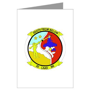 2LAADB - M01 - 02 - 2nd Low Altitude Air Defense Battalion (2nd LAAD) - Greeting Cards (Pk of 20)