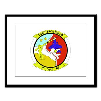 2LAADB - M01 - 02 - 2nd Low Altitude Air Defense Battalion (2nd LAAD) - Large Framed Print