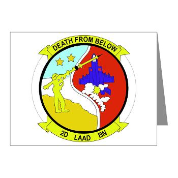 2LAADB - M01 - 02 - 2nd Low Altitude Air Defense Battalion (2nd LAAD) - Note Cards (Pk of 20)