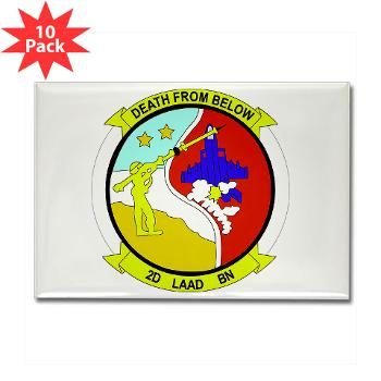 2LAADB - M01 - 01 - 2nd Low Altitude Air Defense Battalion (2nd LAAD) - Rectangle Magnet (10 pack)