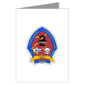 2LARB - M01 - 02 - 2nd Light Armored Reconnaissance Bn - Greeting Cards (Pk of 10)