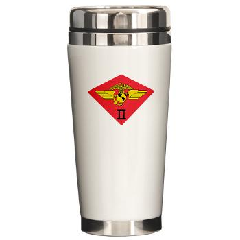 2MAW - M01 - 03 - 2nd Marine Aircraft Wing Ceramic Travel Mug