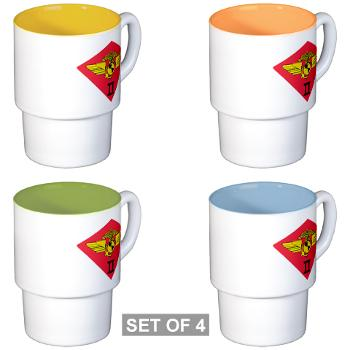 2MAW - M01 - 03 - 2nd Marine Aircraft Wing Stackable Mug Set (4 mugs)