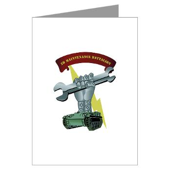 2MB - M01 - 02 - 2nd Maintenance Battalion Greeting Cards (Pk of 20)