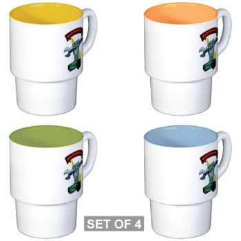2MB - M01 - 03 - 2nd Maintenance Battalion Stackable Mug Set (4 mugs)