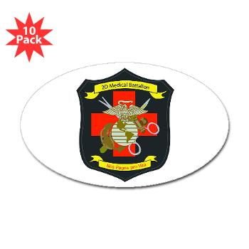 2MBN - M01 - 01 - 2nd Medical Battalion - Sticker (Oval 10 pk)