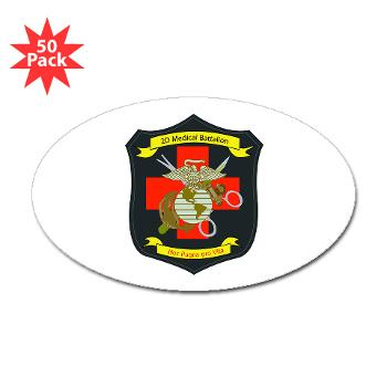 2MBN - M01 - 01 - 2nd Medical Battalion - Sticker (Oval 50 pk)