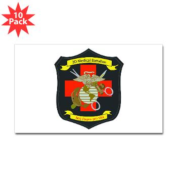 2MBN - M01 - 01 - 2nd Medical Battalion - Sticker (Rectangle 10 pk)