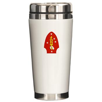 2MD - M01 - 03 - 2nd Marine Division - Ceramic Travel Mug