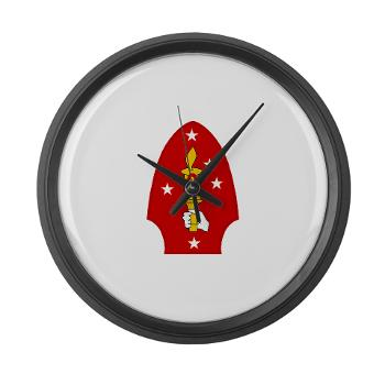 2MD - M01 - 03 - 2nd Marine Division - Large Wall Clock