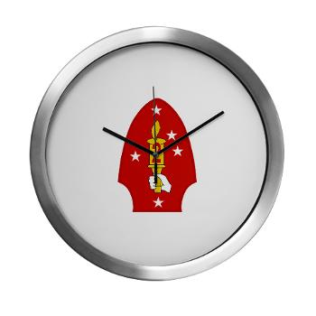 2MD - M01 - 03 - 2nd Marine Division - Modern Wall Clock
