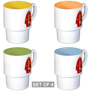 2MD - M01 - 03 - 2nd Marine Division - Stackable Mug Set (4 mugs)