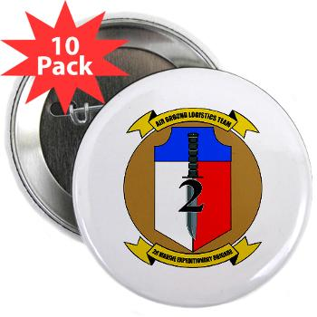 "2MEB - M01 - 01 - 2nd Marine Expeditionary Brigade - 2.25"" Button (10 pack)"