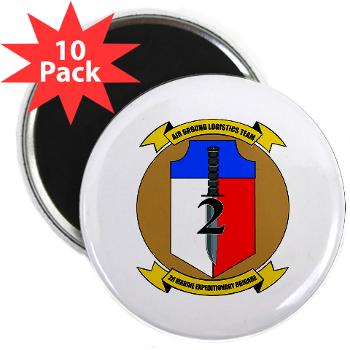 "2MEB - M01 - 01 - 2nd Marine Expeditionary Brigade - 2.25"" Magnet (10 pack)"