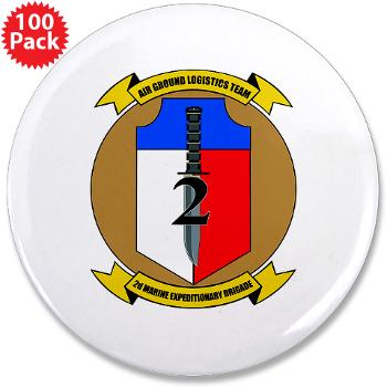 "2MEB - M01 - 01 - 2nd Marine Expeditionary Brigade - 3.5"" Button (100 pack)"