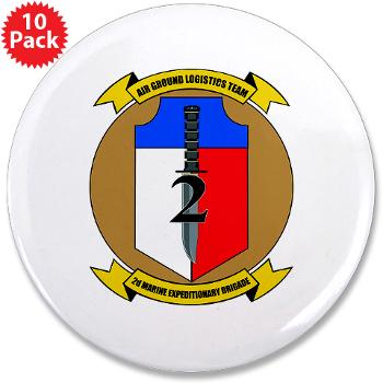 "2MEB - M01 - 01 - 2nd Marine Expeditionary Brigade - 3.5"" Button (10 pack)"