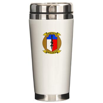 2MEB - M01 - 03 - 2nd Marine Expeditionary Brigade - Ceramic Travel Mug