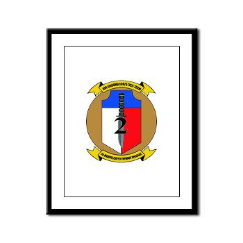 2MEB - M01 - 02 - 2nd Marine Expeditionary Brigade - Framed Panel Print