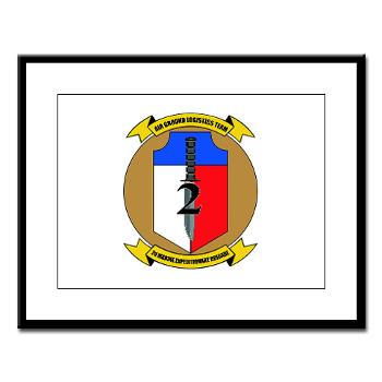 2MEB - M01 - 02 - 2nd Marine Expeditionary Brigade - Large Framed Print